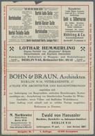 GA Thematik: Anzeigenganzsachen / Advertising Postal Stationery: 1913, Dt. Reich. Privat-Anzeigen-Karte - Stamps
