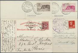 Thematik: Arktis / Arctic: Nordkap : Vier AK 1906/33, Mit 10 Öre Posthorn (Mi. 56) Und K2 NORDKAP / - Polar Philately