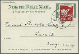 "Br Thematik: Arktis / Arctic: 1924, Trans Polar Flight Expedtion Card Used With 15 ö. Blue From ""BERGEN - Polar Philately"