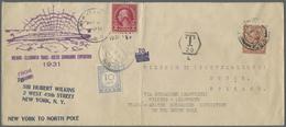 Br Thematik: Arktis / Arctic: 1931, Wilkins-Ellsworth Trans-Arctic Submarine Expedition New York To Nor - Polar Philately