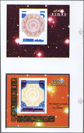 ** Thematik: Astrologie / Astrology: 1971, AJMAN: Signs Of The Zodiac Two Miniature Sheets 10r. 'circle - Astrology