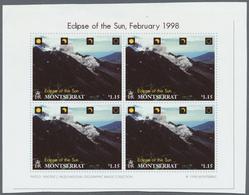 "** Thematik: Astronomie / Astronomy: 1998, Montserrat. Complete Set ""ECLIPSE OF THE SUN - FEBRUARY 26, - Astronomy"