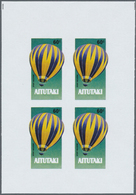 ** Thematik: Ballon-Luftfahrt / Balloon-aviation: 1983, AITUTAKI: Bicentenary Of Aviation Complete Set - Trees