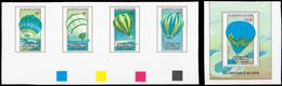 ** Thematik: Ballon-Luftfahrt / Balloon-aviation: 1983, Aitutaki: 200th ANNIVERSARY OF BALLOONING, Hot- - Trees