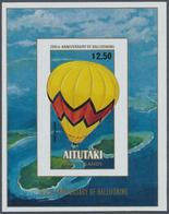 ** Thematik: Ballon-Luftfahrt / Balloon-aviation: 1983, AITUTAKI: Bicentenary Of Aviation $2.50 Miniatu - Trees