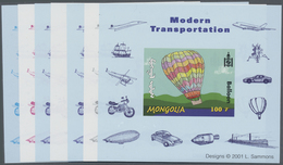 ** Thematik: Ballon-Luftfahrt / Balloon-aviation: 2001, MONGOLIA: Transportation BALLOON 100t. Special - Trees