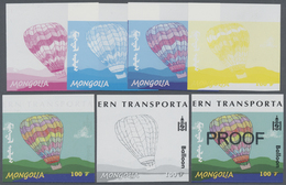 ** Thematik: Ballon-Luftfahrt / Balloon-aviation: 2001, MONGOLIA: Transportation BALLOON 100t. In Seven - Trees