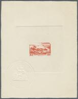 Thematik: Bäume / Trees: 1947, ST. PIERRE Et MIQUELON: Freimarke 20 Fr. 'Küste Im Sturm' Als EPREUVE - Trees