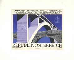 Thematik: Bauwerke-Brücken / Buildings-bridges: 1980, Austria. Original Artist's Painting By Prof. O - Bridges