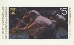 Thematik: Bergbau, Minen / Mining, Mines: 1990, Austria. Original Artist's Painting By Prof. Otto St - Factories & Industries