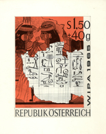Thematik: Druck / Printing: 1965, Austria. Original Artist's Painting By Prof. Otto Stefferl For The - Stamps