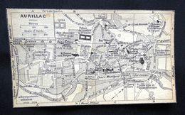 Plan Ancien De La Ville De AURILLAC, Datant De 1933. - Cartes Géographiques