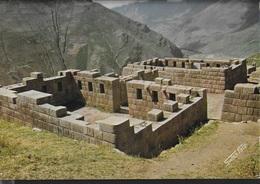 PERU' - PISAC - LE ROVINE -VIAGGIATA 1977 FRANCOBOLLO ASPORTATO - Perù