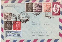 Brief Von Alicante  Nach Deutschland (br2992) - 1951-60 Briefe U. Dokumente