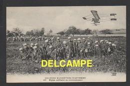 DF / TRANSPORTS / AVIATION / AVIONS / BIPLAN MILITAIRE EN RECONNAISSANCE LORS DE GRANDES MANOEUVRES / 1911 - ....-1914: Vorläufer