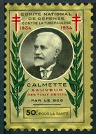 """Tuberculose Antituberculeux - Grand Timbre De 1934  """"50 Frs Pour La Santé"""" - Avec Pochette Tuberculose Nestlé. - Commemorative Labels"""