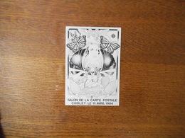 CHOLET 3e SALON DE LA CARTE POSTALE LE 15 AVRIL 1984 N° 262/500 DESSIN DE AR ROUE 83 - Sammlerbörsen & Sammlerausstellungen