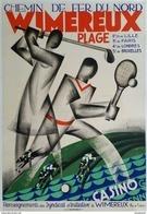 Chemin De Fer Du Nord Wimereux Plage Golf-tennis-casino - Postcard - Poster Reproduction - Publicité