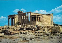 GRECIA - ATENE - L'ERECTELON -VIAGGIATA FRANCOBOLLO ASPORTATO - Grecia