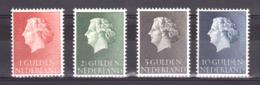Pays-Bas - 1954/57 - N° 631 à 631C - Neufs ** - Reine Juliana - Nuevos