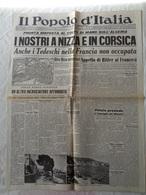 """GIORNALE """"IL POPOLO D'ITALIA"""" 12 NOVEMBRE 1942 - FONDATORE BENITO MUSSOLINI - LEGGI - Libri, Riviste, Fumetti"""