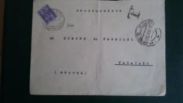 STORIA POSTALE.REPUBBLICA.BUSTA.TASSATA.SEGNATASSE.FABRIANO.160 - 6. 1946-.. Republic