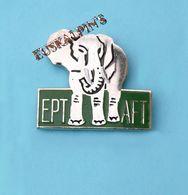 Pin's éléphant, EPT AFT, école Pratique Du Tourisme , LE TREMBLAY SUR MAULDRE, YVELINES - Tiere