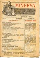 Rivista Antica MINERVA (Rivista Delle Riviste) Anno XIV, 24 Gennaio 1904, Vol. XXIV, N.7, Direttore FEDERICO GARLANDA - Vecchi Documenti
