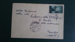 STORIA POSTALE.REPUBBLICA.BUSTA.DEMOCRATICA.ISOLATO.SCAFATI...167 - 6. 1946-.. Republic