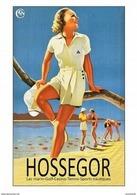SNCF Hossegor Lac Marin-Golf-Casino-Tennis-Sports Nautiques - Postcard - Poster Reproduction - Publicité