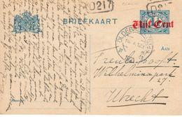 Bk G106a I Van OLdebroek Naar Utrecht - Postal Stationery