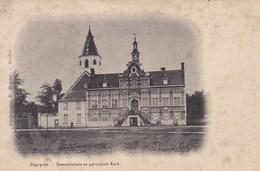 Kaprijke, Caprycke, Gemeentehuis En Parochiale Kerk (pk42897) - Kaprijke