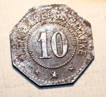 """WW1 Monnaie Jeton De Necessité De La Ville De Lichtenfels """"10 Stadt Lichtenfels"""" Bavière - Bayern WWI - Monetary/Of Necessity"""