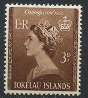 Tokelau 1953 3p Queen Elizabeth II Issue #4 - Tokelau