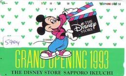 Télécarte Japon DISNEY STORE 1993 / 110-142405  - MICKEY (5904) Japan Phonecard Telefonkarte * TIRAGE 2000 EX - Disney