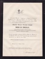 EMPIRE RUSSON HAMAL TONGRES Charles Baron De SENZEILLE 76 Ans 1866 Ancien Officier Cavalerie Médaille De Sainte-Hélène - Décès