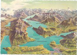 V1581 Vierwaldstattersee - Carte Geographique Map Carta Geografica / Non Viaggiata - Carte Geografiche