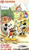 Télécarte Japon / 110-011 - DISNEY - Série TOYOTA / Voiture Camry (5908) Car Japan Phonecard - Auto Telefonkarte - Disney