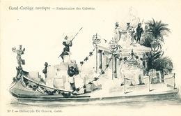 027/30  GAND  - Carte  Illustrée  Cortège Nautique - Embarcation Des Colonies. No 7 - Gent