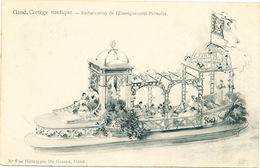 028/30  GAND  - Carte  Illustrée  Cortège Nautique - Embarcation De L'Enseignement Primaire. No 9 - Gent