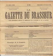 Journal LA GAZETTE DU BRASSEUR 1895 - 1896 Bière Brasserie - Autres Collections