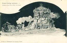 029/30  GAND  - Carte  Illustrée  Cortège Nautique - Embarcation De La Ville De Gand. No 10 - Gent