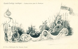 031/30  GAND  - Carte  Illustrée  Cortège Nautique - Embarcation Pour La Musique. No 12 - Gent