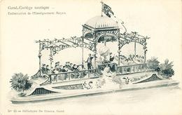 032/30  GAND  - Carte  Illustrée  Cortège Nautique - Embarcation De L'Enseignement Moyen. No 13 - Gent