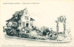 033/30  GAND  - Carte  Illustrée  Cortège Nautique - Embarcation De L'Agriculture. No 14 - Gent