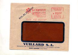 Lettre Flamme Ema Saint Amarin Vuillard Marque Qualité - Postmark Collection (Covers)