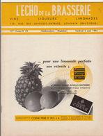 Revue L'ECHO DE LA BRASSERIE Biere Limonade Liqueur - Andere Sammlungen