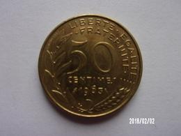 50 Centimes - A. Dieudonné - Lagriffoul - 1963 - KM 939 - France
