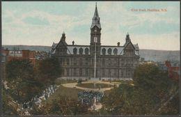 City Hall, Halifax, Nova Scotia, Canada, C.1910 - Valentine's Postcard - Halifax