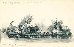 034/30  GAND  - Carte  Illustrée  Cortège Nautique - Embarcation Du 75è Anniversaire. No 16 - Gent